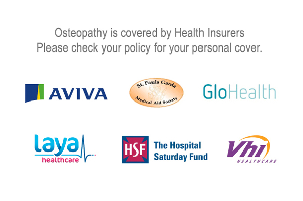 Kildare Osteopathy Health Insurer list